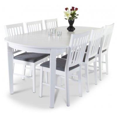 Sandhamn spisegrupe - Bord inkludert 6 stk stoler
